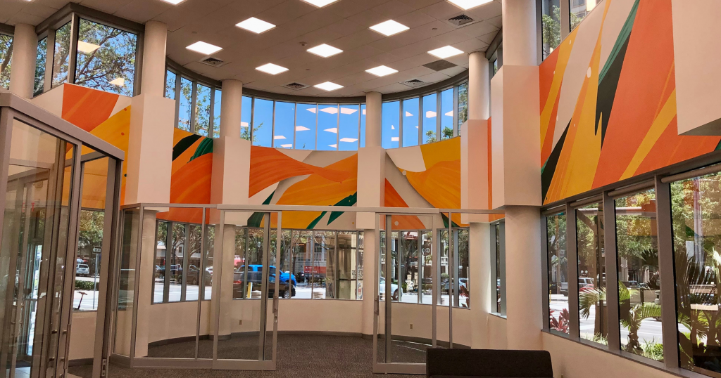 Mural on Interior of St. Pete Branch